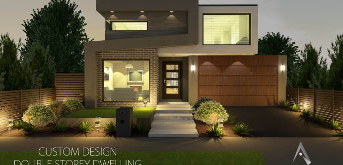 Custom design double storey dwelling - gallery