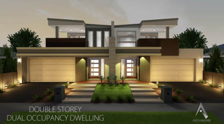 Dual occupancy modern house plans designs for Multi dwelling house designs